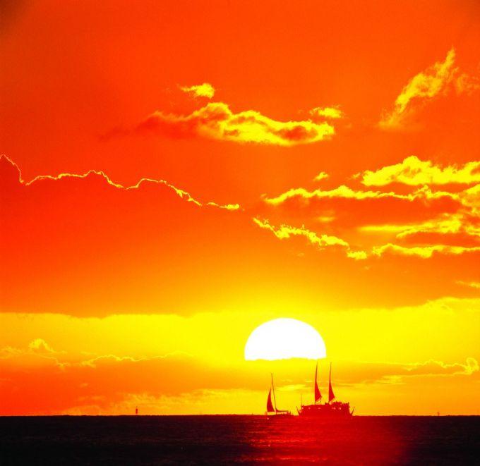 日出 水彩画