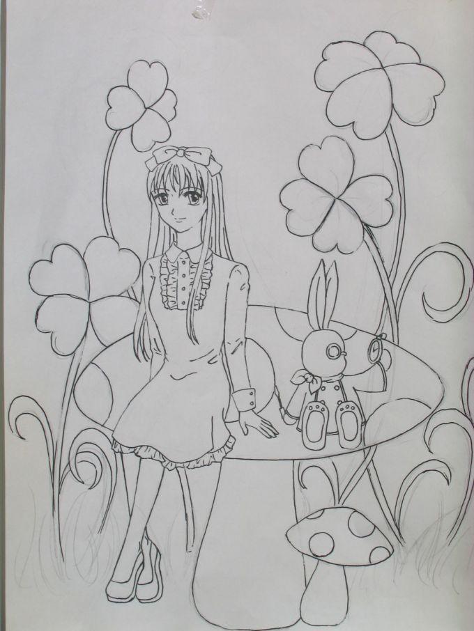 童话故事《爱丽丝漫游奇境记》里的主人公,他是个可爱的小女孩i.