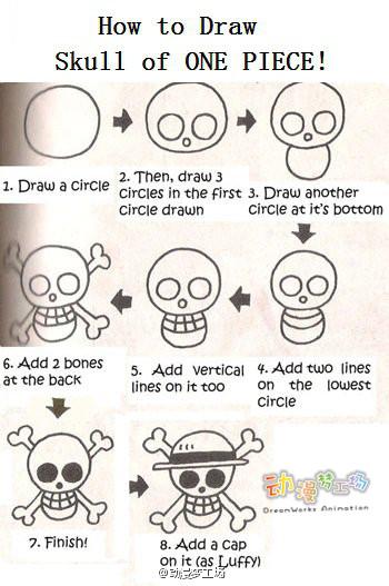【简单手绘】画草帽骷髅这么简单~快学起吧!