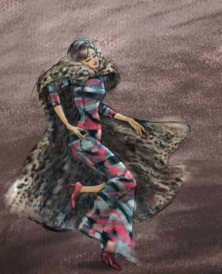 《金陵十三钗》人物手绘图